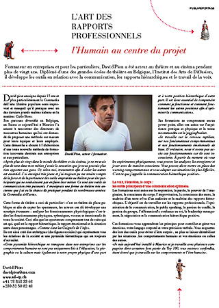 Article de presse - David Pion
